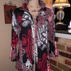 🌺Paisley Print Knit Jacket